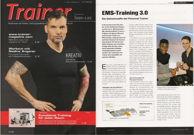 David Alaba (FCB) mit Markus Trocha EMS Sportstudio ®