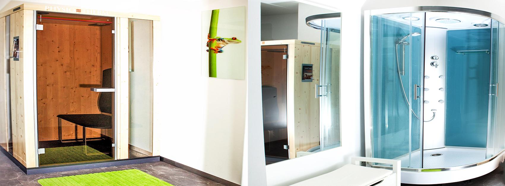 EMS-Studio®-Unterhaching-Wärmekabine-Physio-Therm Wellnessdusche EMS